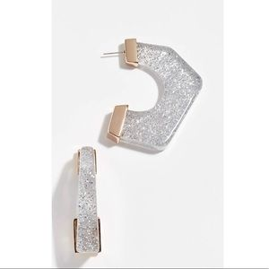 NEW Rebecca Minkoff Glitter Hoop Earrings